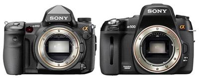 Sony Alpha 850 e 500