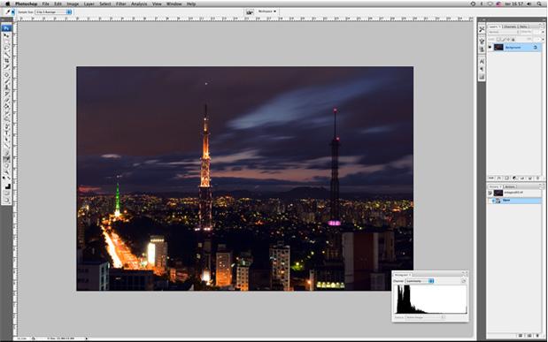 imagem noturna Fotometria + Flash   parte 4 de 9   O Histograma