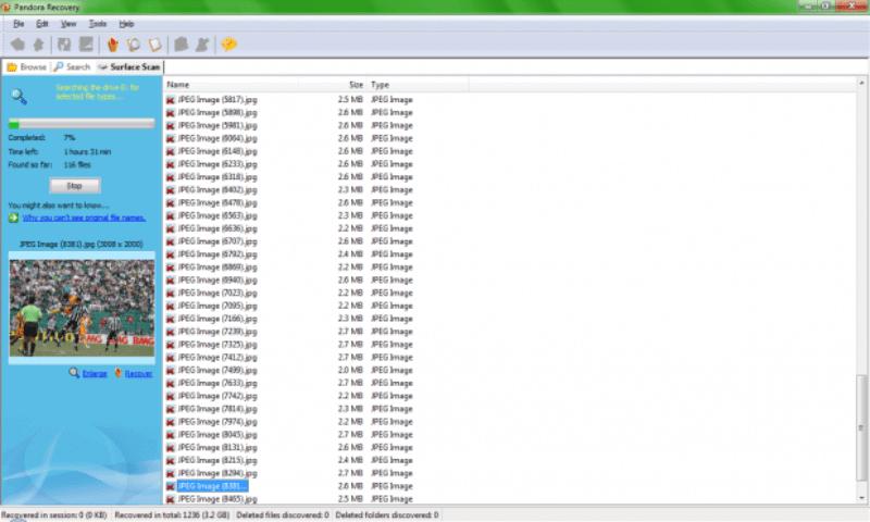 Ao clicar no nome do arquivo você pode visualizar a miniatura. 619x372 Como recuperar fotos dos cartões de memória corrompidos