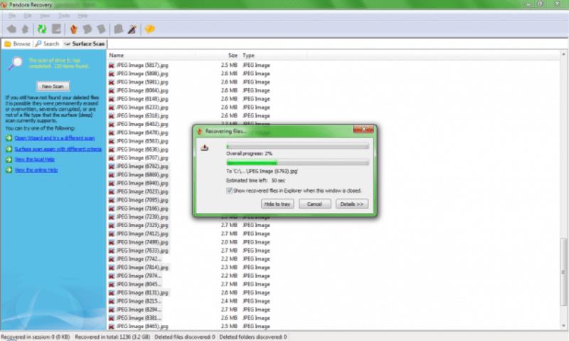 Esta janela mostra o progresso da recuperação das fotos. 619x371 Como recuperar fotos dos cartões de memória corrompidos