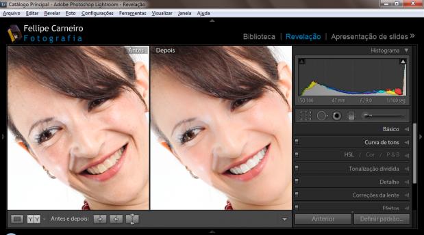 Retocando rostos com o Adobe Lightroom Antes e Depois 619x344 Retocando rostos com o Adobe Lightroom