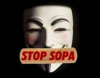 Mascara de Guy Fawkes usada em protestos contra SOPA e PIPA O Compartilhamento na Rede e o Futuro dos Direitos Autorais