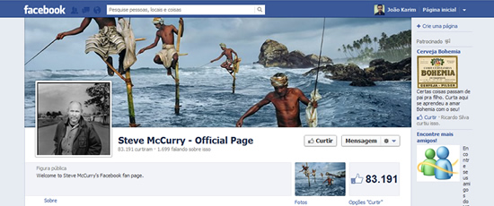 Cover steve McCurry Mídias Sociais – 05 dicas de como aproveitar melhor o Facebook