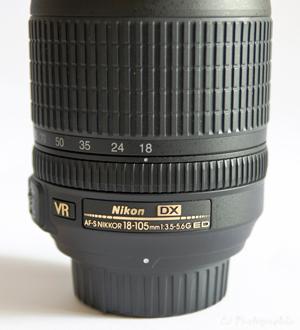 Objetiva Nikkor 18-105mm