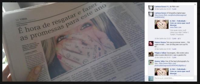 Estampando a Gazeta com uma de suas fotografias mais famosas, ela Larissa Grace, novamente