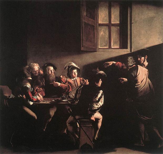 Chiaroscuro 02 - Caravaggio - Vocazione di San Matteo