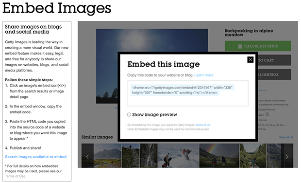getty images embed code -red