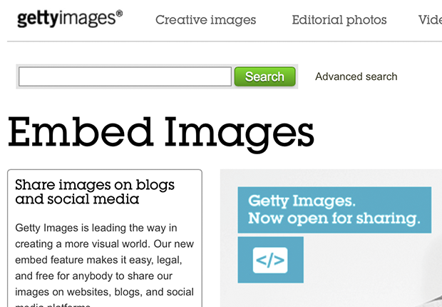 getty images embed -red