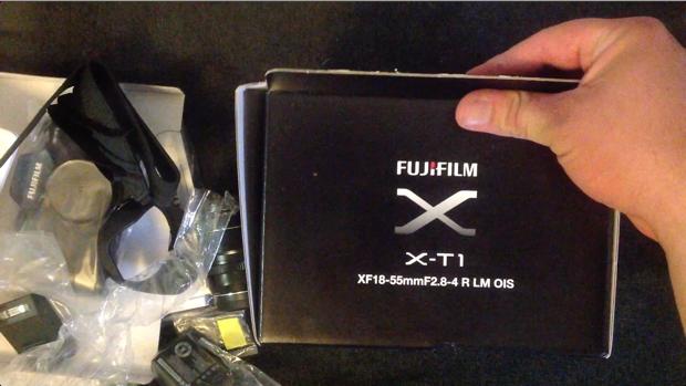 Unboxing Fujifilm X-T1 - screenshot