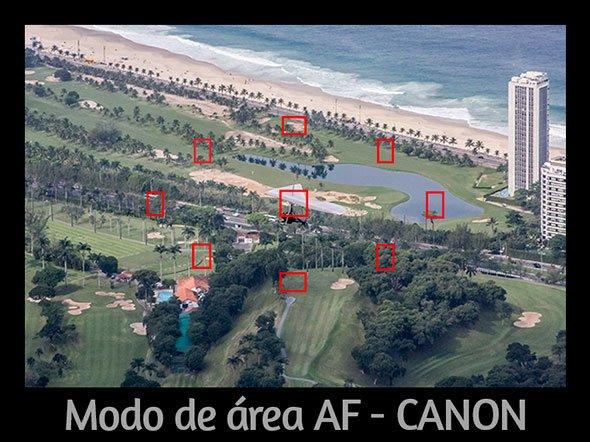 Modo de área af automático - canon