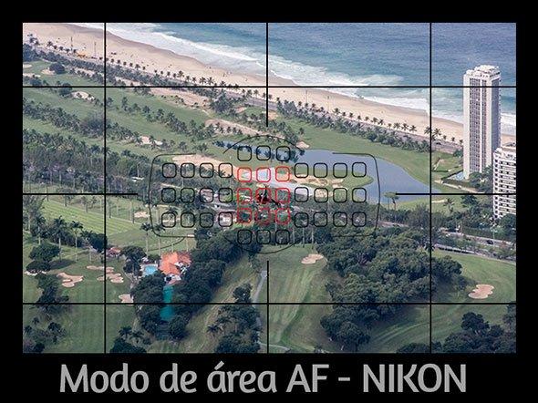 Modo de área af 9 pontos - nikon