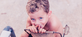 Em fotografia infantil: quanto menos melhor
