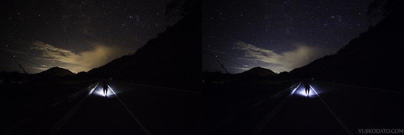 Estrada com estrelas. Canon 5D Mark II, Rokinon 14mm. f/2.8, 30 seg, ISO 1.600.
