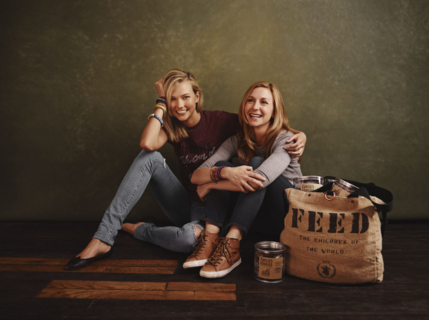 Karlie Kloss and Christina Tosi for FEED Projects. Model and Co-Founder, Karlie's Kookies; Chef / Founder, Momofuku Milk Bar