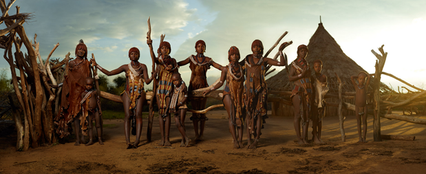 The Hamar are a agro-pastoral tribal group living amongst the many diverse ethnic groups that occupy Ethiopia's Lower Omo Valley. A complex belief system with deep animistic roots intertwines their daily lives with their livestock, a central part of Hamar culture. The women are well known for putting beautiful red river clay in their hair and skin.
