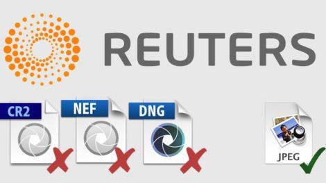 Reuters tira de cena as fotos em RAW de seus processos