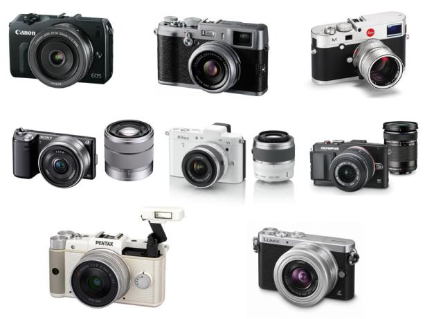 Diversas Câmeras Mirrorless