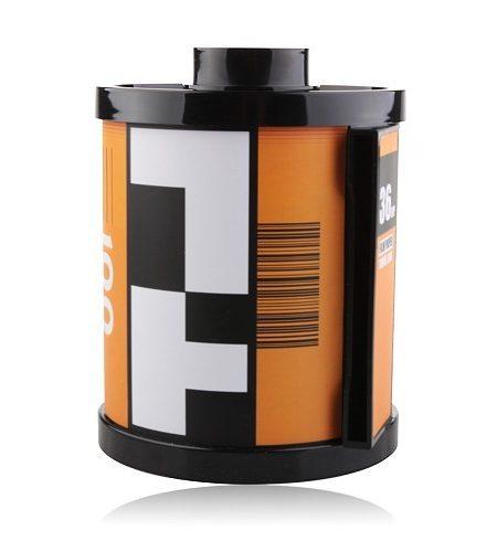 Porta Papel Higiênico Formato Filme Fotográfico 35mm (Laranja)