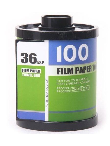 Porta Papel Higiênico Formato Filme Fotográfico 35mm (Verde)